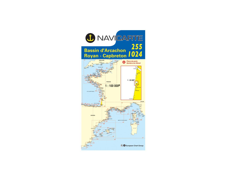 Navicarte Carte N 255 1024 Bassin D Arcachon Royan Cap Breto