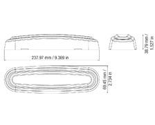 Plafonnier néon blanc 24cm