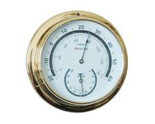 BIGSHIP Thermomètre hygromètre laiton 95mm