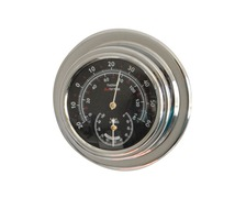 BIGSHIP Thermomètre hygromètre chrome 70mm