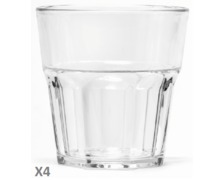 Lot de 4 verres empilable en Tritan