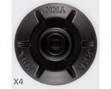 YKK SNAD dôme mâle noir Ø25 les 4