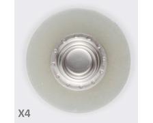 YKK SNAD flexible mâle transparent Ø25 les 4
