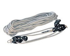 SELDEN Palan 4:1 à friction Ø60mm + cordage Ø10mm x 20m