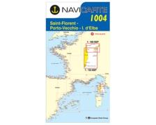 NAVICARTE Carte n° 1004 Corse Est, Porto Vecchio, Ile d'Elbe