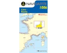 NAVICARTE Carte n°1006 Calvi, Bastia, Le Cap Corse