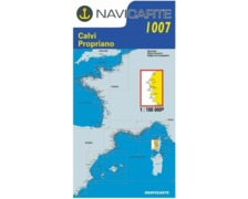 NAVICARTE Carte n° 1007 Porto, Ajaccio