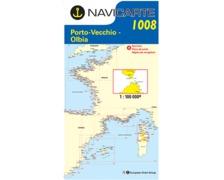NAVICARTE Carte n° 1008 Propriano, Bonifaccio, La Maddalena