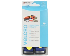 VELCRO Sangle ajustable bleue 25mm x 46cm (x2)