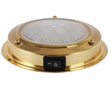 Plafonnier LED laiton Ø ext. 110mm Ø verre 93mm