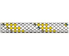 LIROS Drisse Hercules 16mm blanche fils jaunes