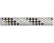 LIROS Drisse Hercules 16mm blanche fils noirs
