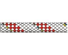 LIROS Drisse Hercules 16mm blanche fils rouge