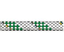 LIROS Drisse Hercules 16mm blanche fils verts