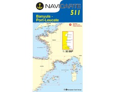 NAVICARTE Carte n° 511 Banyuls, Port Leucate, Port-Vendres