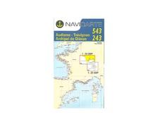 NAVICARTE Carte double n°543 et n°243 Audierne-Trévignon