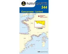 NAVICARTE Carte n°544 Concarneau-Lorient-Ile de Groix