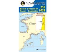 NAVICARTE Carte n°1024 Port Bloc-Cap Breton-Les Landes