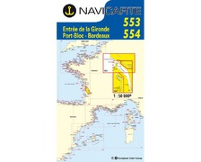 NAVICARTE Carte double n°553 et n°554 Royan-Bordeaux