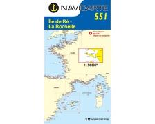 NAVICARTE Carte n°551 Ile de Ré-La Rochelle