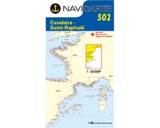 NAVICARTE Carte n°502 Cavalaire - Saint Raphaël