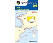 NAVICARTE Carte n°508 Sète - Port Camargue