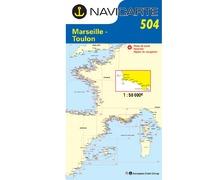 NAVICARTE Carte n°504 Marseille - Toulon