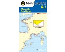 NAVICARTE Carte n° R1 Marseille - San Remo
