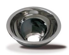BARKA Evier hémisphérique inox poli miroir Ø200 mm H 100 mm