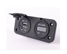 BIGSHIP Port USB 2 entrées plus voltmètre