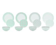 Ensemble vaisselle MILDA ronde lot de 12 pièces