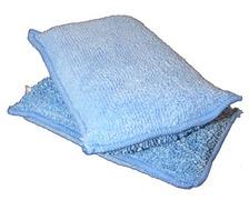 DEWITTE Eponges microfibres DUO bleues les 3