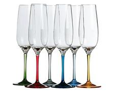 MARINE BUSINESS Flûtes à champagne PARTY couleurs les 6