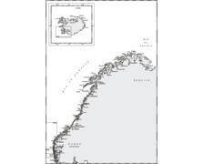 SHOM GB4101 à plat de la Norvège à L'Islande