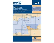 IMRAY Carte C32 Baie de Seine - Le Havre to Cherbourg