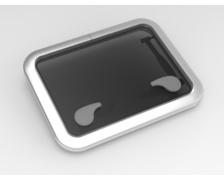 GOIOT Opal T30 gris satiné 457 x 327mm