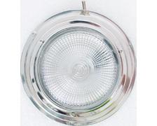Plafonnier halogène inox Ø165 mm