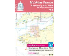NV Charts Atlas de Cherbourg à St. Malo/îles Anglo-Norm FR2