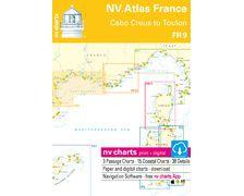 NV Charts Atlas de Cabo Creus à Toulon FR9