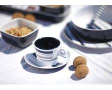 MARINE BUSINESS Tasses à café + sous-tasses MONACO les 6