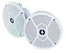 PLASTIMO Haut-parleurs 80W 6'' blanc, la paire