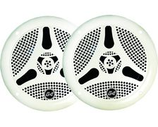 PLASTIMO Haut-parleurs bluetooth blanc, la paire