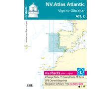 NV Charts ATLAS Atlantic Vigo to Gibraltar ATL 2