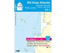 NV Charts ATLAS Atlantic Madeira,Canary,Azores,CapVerde ATL3