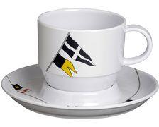 MARINE BUSINESS Regata tasses à café et soucoupes (x6)