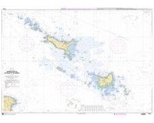SHOM 7143 à plat abords des îles de houat et de Hoëdic