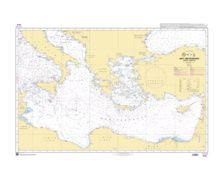 SHOM 7016 à plat Mer Méditerranée - Bassin oriental
