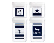 MARINE BUSINESS Set de 4 boîtes hermétiques SEA LOVERS