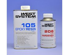 WEST SYSTEME Resine epoxy 105 + durcisseur 206 Pack A 1,2Kg