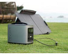 ECOFLOW Pack RIVER 370 + panneau solaire pliant 85W + housse